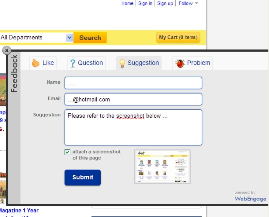 webengage-with-screenshot-feature